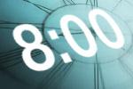 Clock at 8 pm